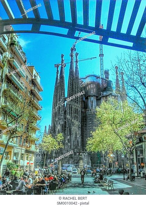 Avinguda Gaudí and Sagrada Familia, Barcelona, Catalonia