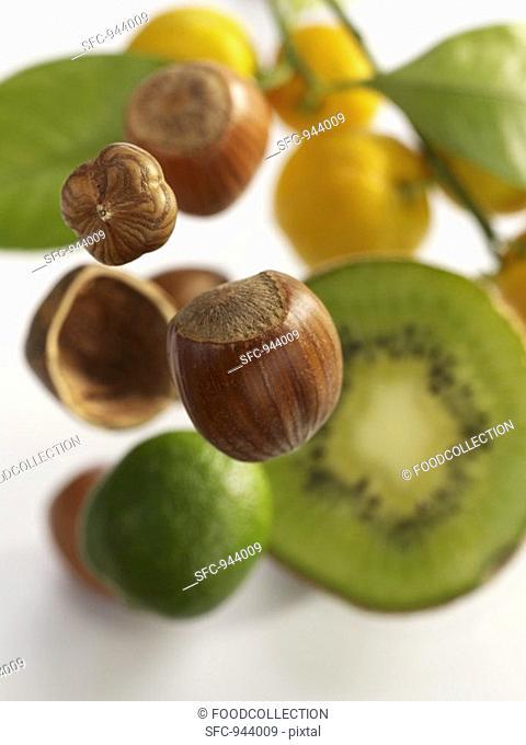 Hazelnuts and fruit