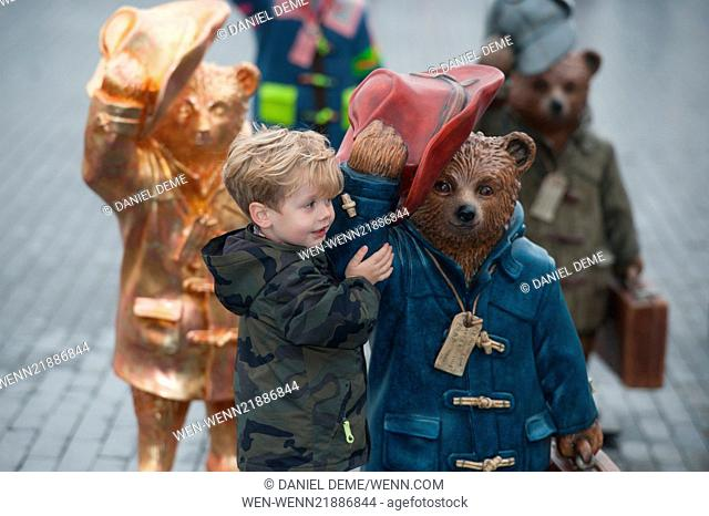 Celebrity designers, along with a number of Paddington statues, attend photocall and press launch for The Paddington Trail at the Scoop
