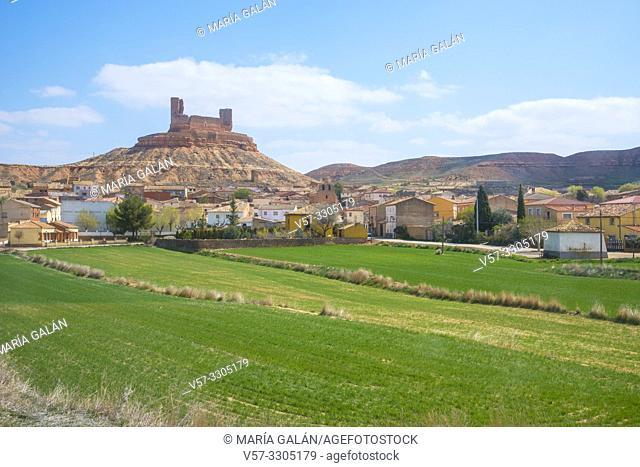 Overview. Montuenga de Soria, Soria province, Castilla Leon, Spain