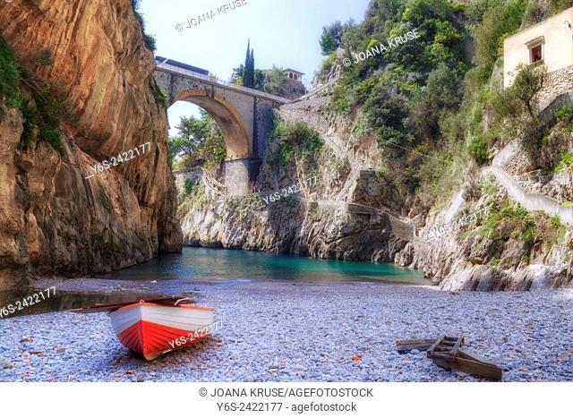 Furore, Coast of Amalfi, Salerno, Campania, Italy