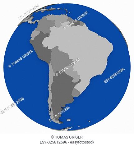 Southern america global map Stock Photos and Images ...