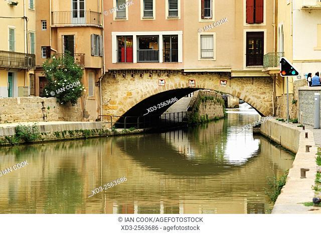 Le pont des Marchands, Narbonne, Aude Department, Languedoc-Roussillon, France