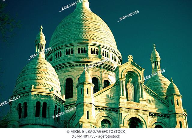 The Sacre-Cœur Basilica  Montmartre  Paris, France, Europe