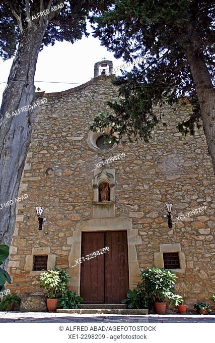 Hermitage of the Mare de Deu dels Torrents, Vimbodi, Conca de Barbera, Catalonia, Spain
