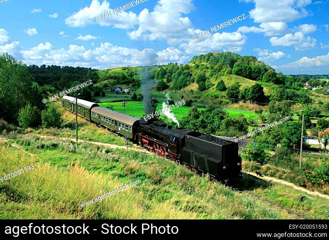 Landscape with a steam train