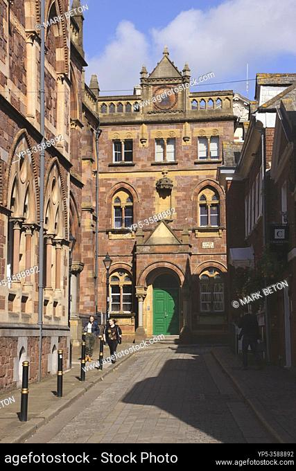 Upper Paul Street by Royal Albert Memorial Museum Exeter Devon UK