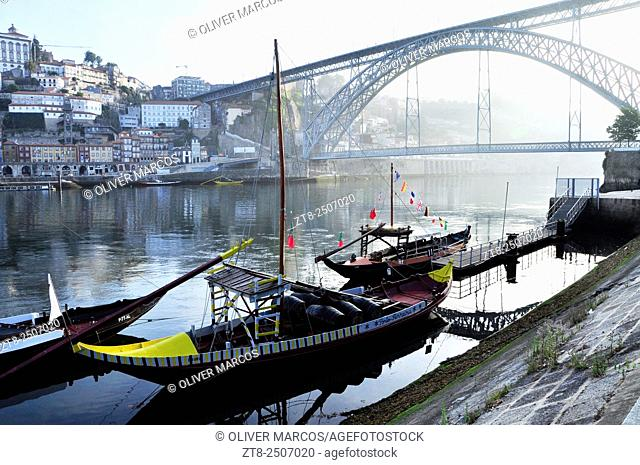Rabelos are traditional boats that were traditionally used to carry the barrels of port wine from the vineyards to Vila Nova de Gaia, Porto