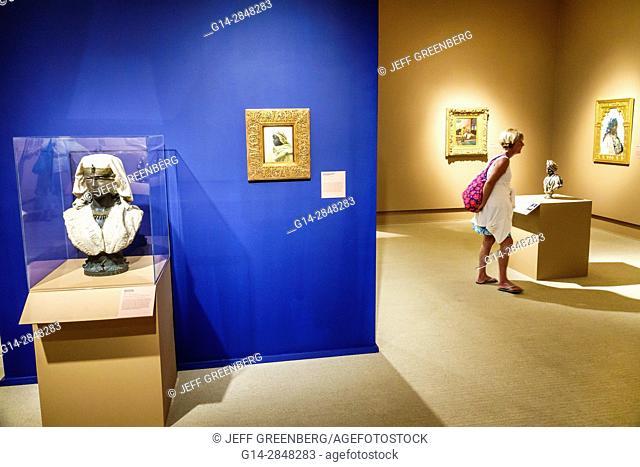 Florida, Winter Park, Orlando, Rollins College, Cornell Fine Arts Museum, art, interior, exhibition, The Black Figure in the European Imaginary, gallery