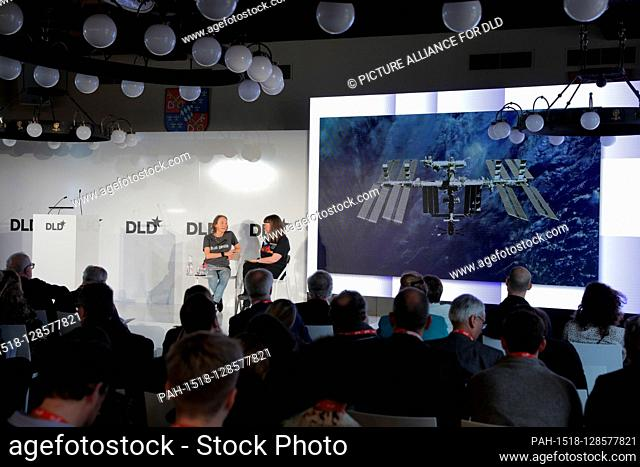 Panel with (l-r) Esther Dyson (Executive founder of Wellville) and Dr. Cady Coleman (former NASA Astronaut) at DLD Munich Conference 2020