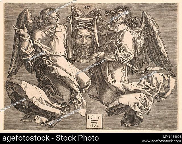 The Sudarium Carried by Two Angels, copy. Artist: After Albrecht Dürer (German, Nuremberg 1471-1528 Nuremberg); Artist: Hieronymus (Jerome) Wierix...