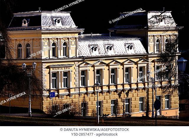 4 star historic Hotel Maria Spa in Marianske Lazne resort - Marienbad, West Bohemia, Czech Republic, Europe