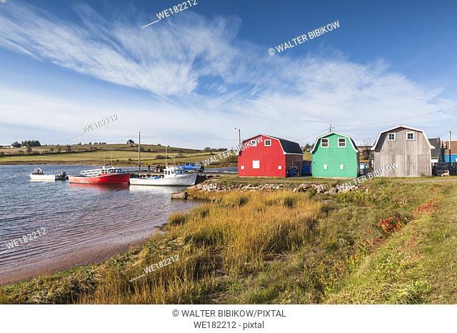 Canada, Prince Edward Island, French River, small fishing harbor