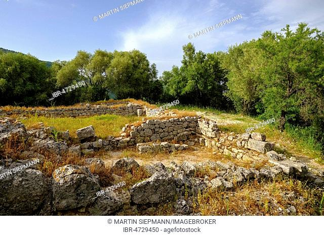 Acropolis, ancient city Butrint, National Park Butrint, near Saranda, Qark Vlora, Albania