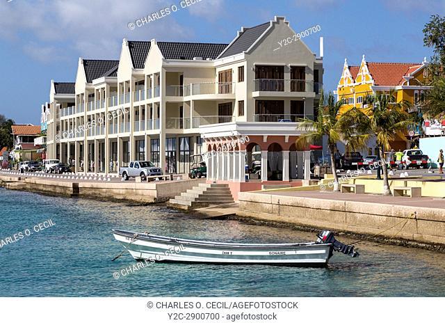 Kralendijk, Bonaire, Leeward Antilles. Waterfront View