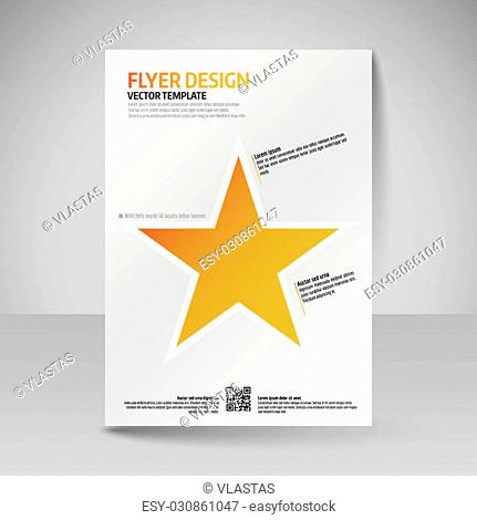 Business brochure. Editable A4 poster for design cover of magazine, education, presentation, website. Flyer template