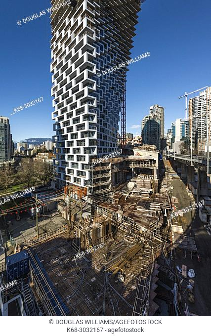 Vancouver House, a tower under construction in Vancouver, BC, Canada
