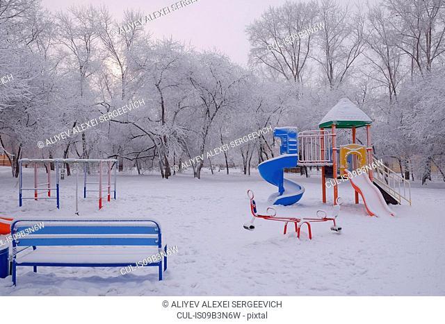 Children's playground, Ural, Russia