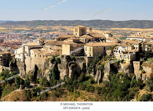 View Of The Old Buildings And Cathedral In The Old Part Of Cuenca, Cuenca Castile La Mancha Spain