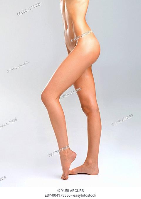 Bottom half of a beautiful nude womans body