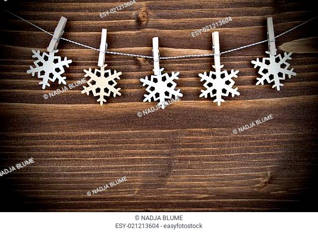 Snowflakes on a Line