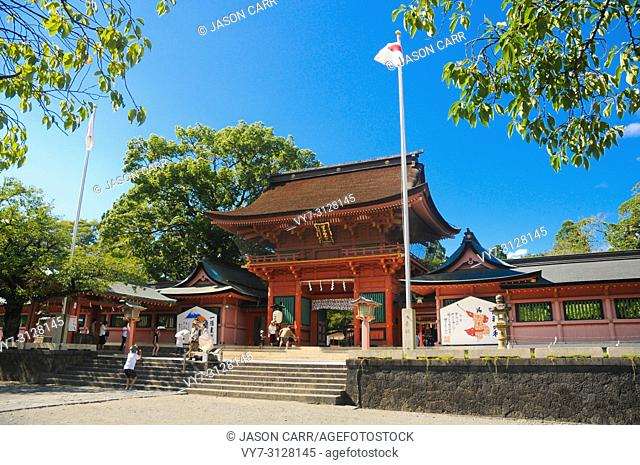 Fuji Hongu Sengen Taisha Shrine in Shizuoka, Japan. This shrine is located in close to Mt. Fuji, Japan and very popular among tourists