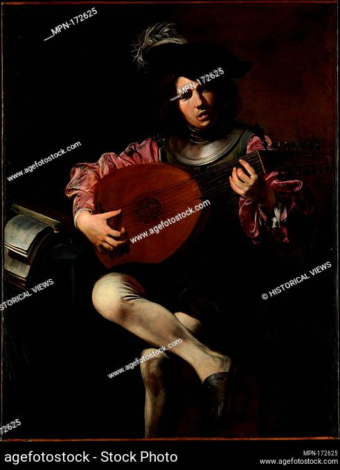 Lute Player. Artist: Valentin de Boulogne (French, Coulommiers-en-Brie 1591-1632 Rome); Date: ca. 1625-26; Medium: Oil on canvas; Dimensions: 50 1/2 x 39 in