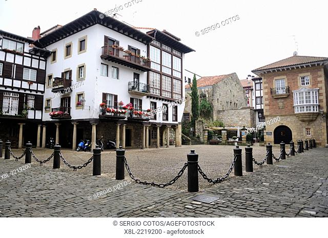 Plaza de Armas in Fuenterrabia, Guipúzcoa, Basque Country