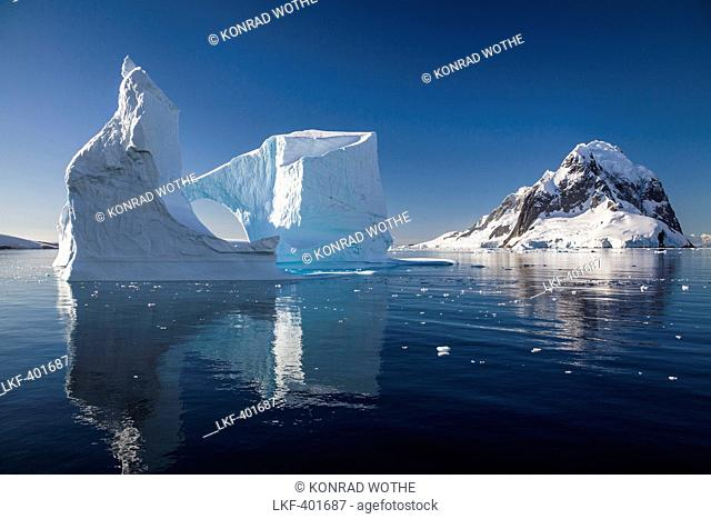 Arched Iceberg, Lemaire Channel, Antarctic Peninsula, Antarctica