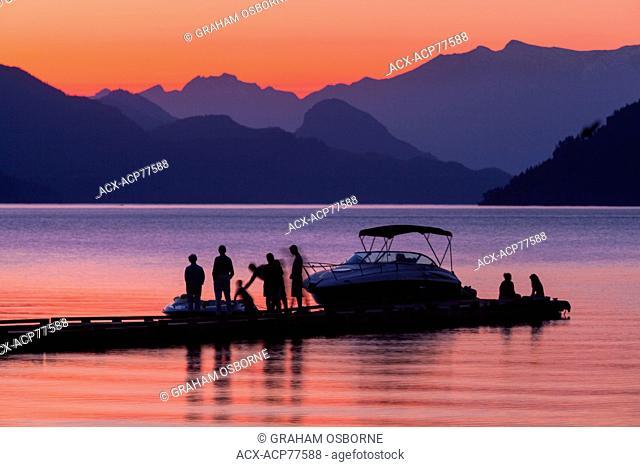 Summer sunset, Harrison Lake, Harrison Hot Springs, BC
