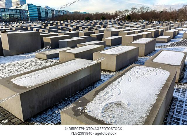 Berlin, Germany, Monument to Assasinated Jews of Europe, Shoa, Public Sculpture (Credit: Peter Eisenman), Mitte District