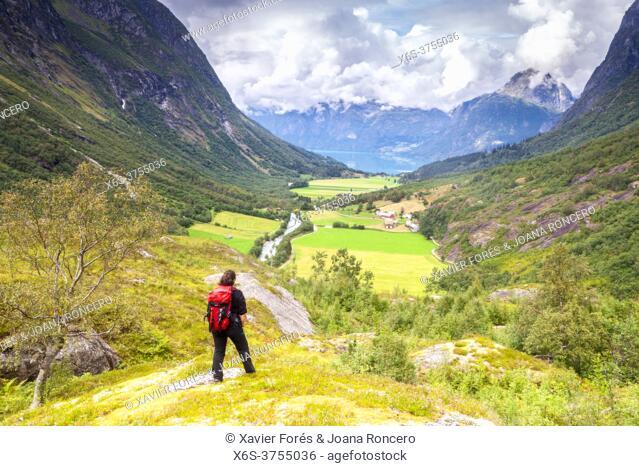 Erdalen Valley in Jostedalsbreen National Park, Vestland, Norway