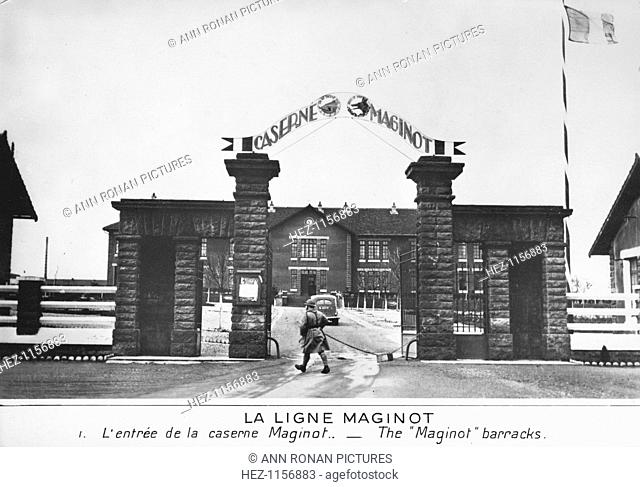 Entrance to the Maginot barracks, Maginot Line, France, c1935-1940. Conceived by Andre Maginot (1877-1932) as an impegnable wall on France's eastern frontier