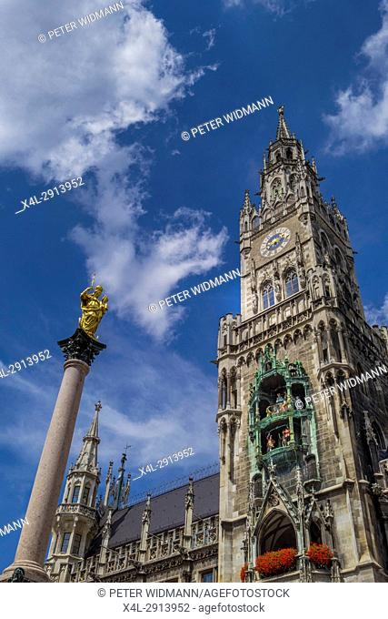 New Town Hall in Munich, Marienplatz, Bavaria, Germany, Europe