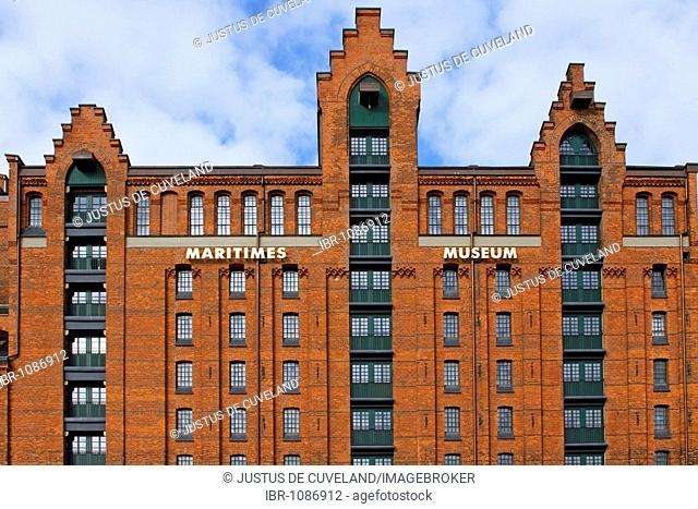 International Maritime Museum of Hamburg, Kaispeicher B, Speicherstadt, old warehouse district, port of Hamburg, Germany, Europe