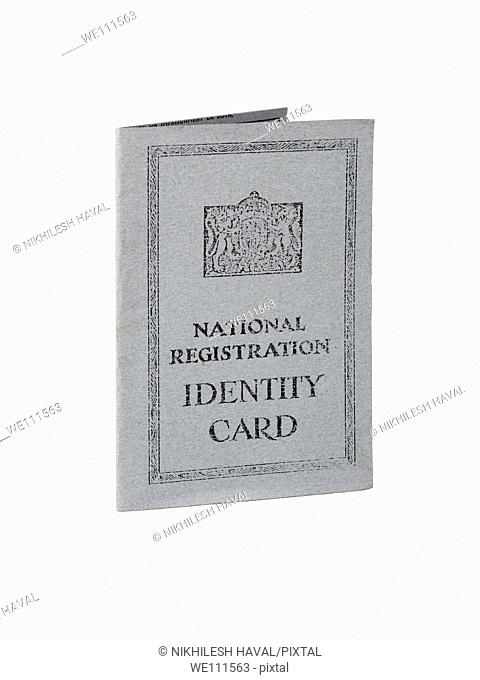 Vintage old British National Identity card