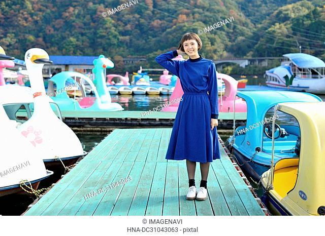 A woman at pier