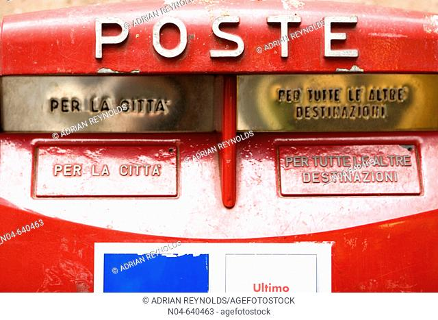 Postal box. Lucca. Italy