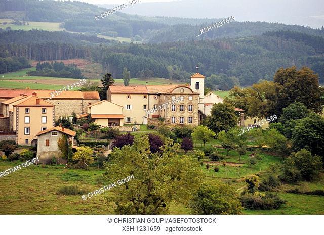 La Chapelle d' Usson, Livradois-Forez Regional Nature Park, Puy-de Dome department, Auvergne region, France, Europe