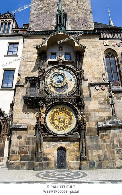 Czech Republic, Prague, Town Hall, Astronomical clock