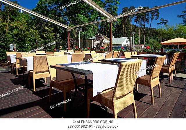 Restaurant summer terrace