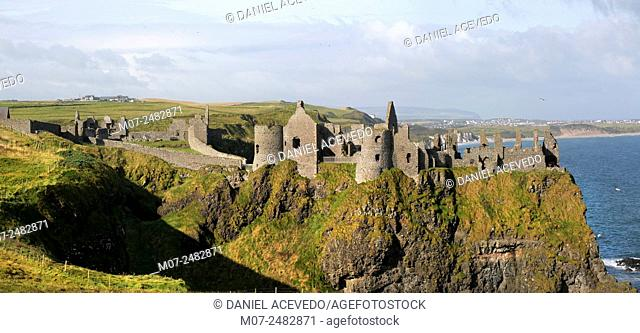 Dunluce Castle panoramic, Bushmills, County Antrim
