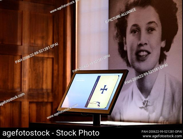 """22 June 2020, Brandenburg, Potsdam: The diary of Joy Milward is part of the exhibition """"""""Potsdam Conference 1945 - The Reorganization of the World"""""""""""