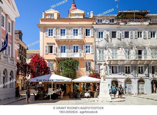 Historic Buildings In Corfu Town, Corfu Island, Greece