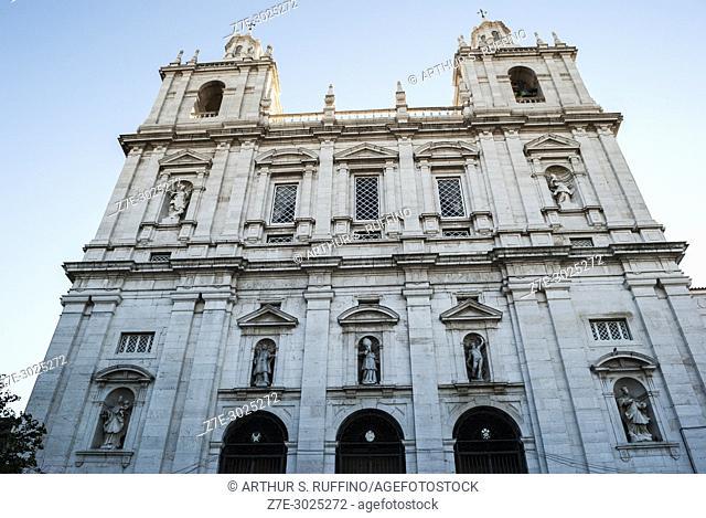 Church and Monastery of St. Vincent of Fora (Igreja e Mosteiro de S. Vincente de Fora). Lisbon, Portugal, Europe