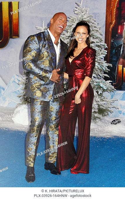 """Dwayne Johnson, Lauren Hashian 12/09/2019 """"""""Jumanji: The Next Level"""""""" Premiere held at the TCL Chinese Theatre in Hollywood, CA. Photo by K"""