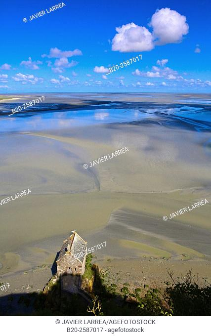 Mont Saint Michel, St Michael's Mount, Manche Department, Basse-Normandie region, Normandy, France