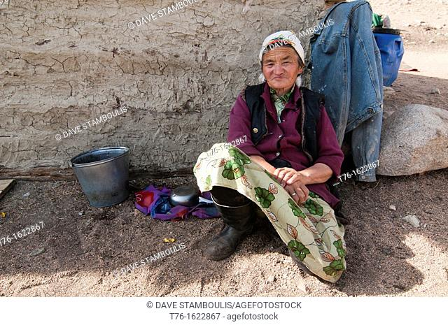 portrait of an ethnic Kazakh woman in Bayan-Ölgii in Western Mongolia