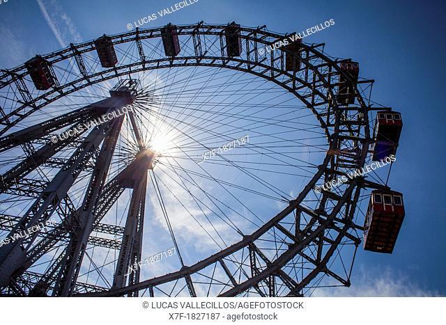 Giant wheel at Prater, amusement park, Vienna, Austria, Europe