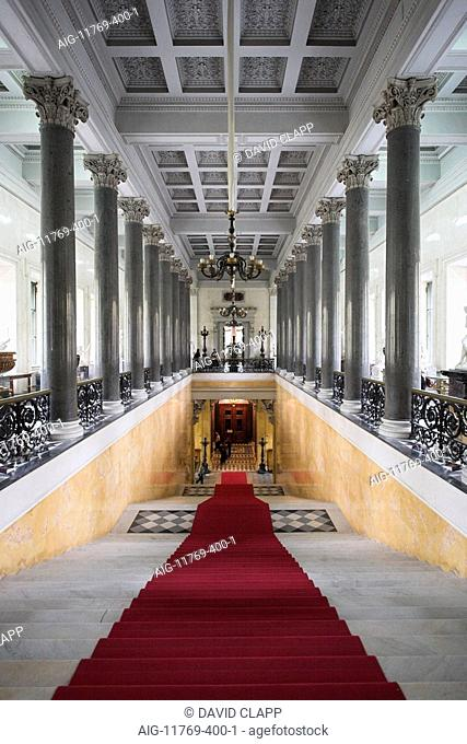 The Winter Palace interior - the main staircase - part of the State Hermitage Museum, St Petersburg. Architect: Leo von Klenze